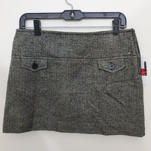 NWT Tommy Hilfiger Grey Tweed Mini Skirt